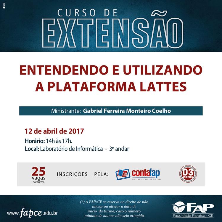 Cursos de Extensão 2017.1