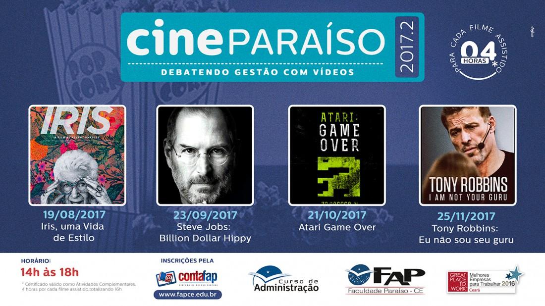Banner do evento Cine Paraíso
