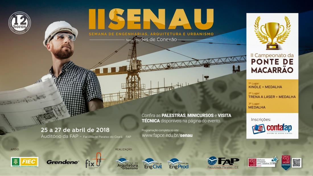 Banner do evento Semana das Engenharias, Arquitetura e Urbanismo