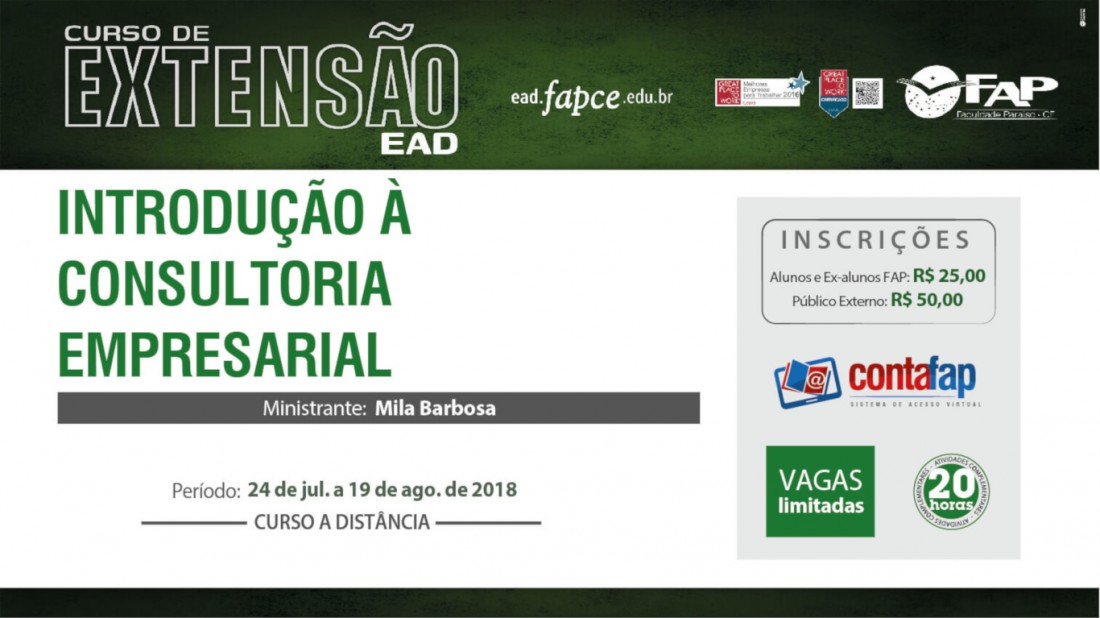 Banner do evento Cursos EAD