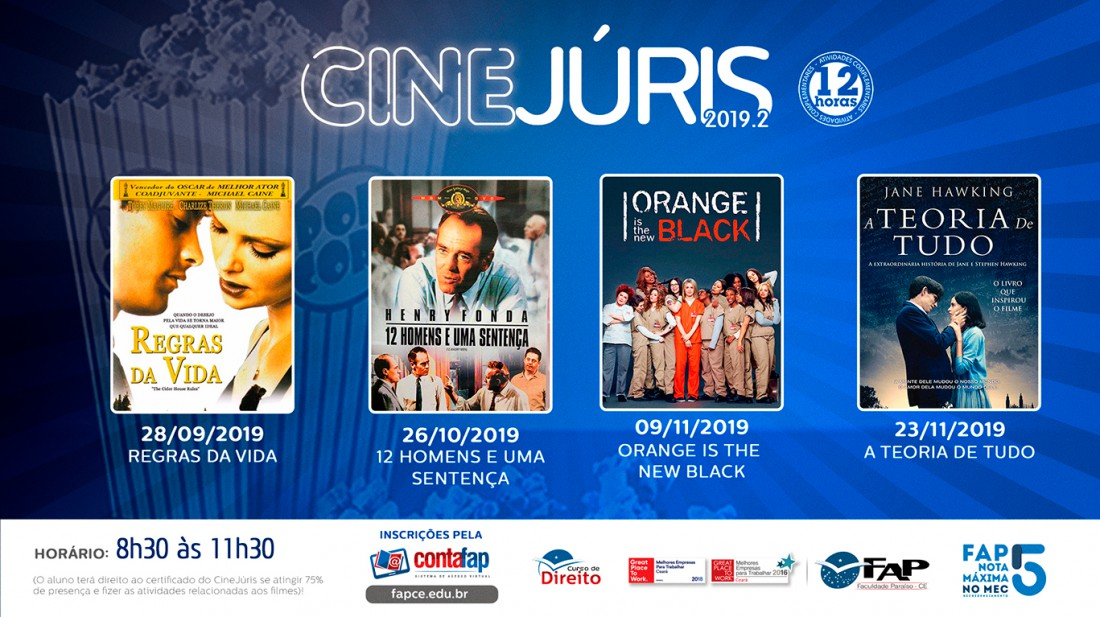 Banner do evento CineJuris