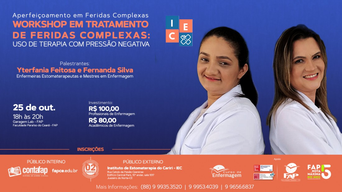 Banner do evento Palestras